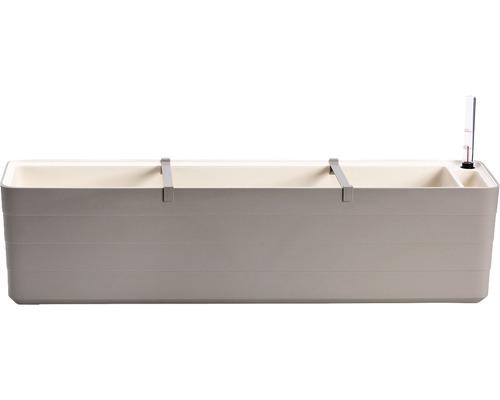 Blumenkasten Lafiora Kunststoff 80x19,5x20 cm taupe inkl. Erdbewässerungssystem und Wasserstandsanzeiger