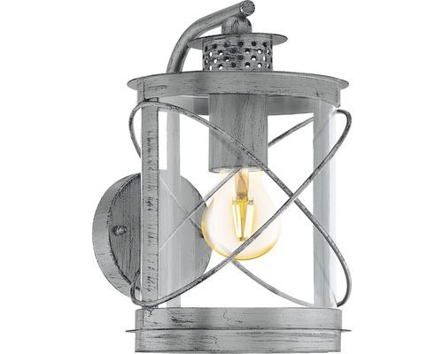 Außenwandleuchte 1-flammig H 280 mm Hilburn silber/antik