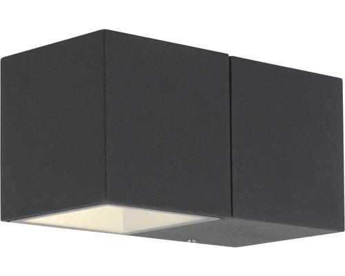 AEG LED Außenwandleuchte IP54 5,6W 450 lm 3000 K warmweiß Daveen anthrazit 70x140 mm