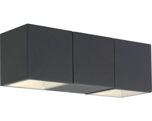 AEG LED Außenwandleuchte IP54 2x5,6W 450 lm 3000 K warmweiß Daveen anthrazit 70x210 mm