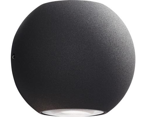 AEG LED Außenwandleuchte IP54 2x3W 144 lm 3000 K warmweiß Gus anthrazit Ø 100 mm