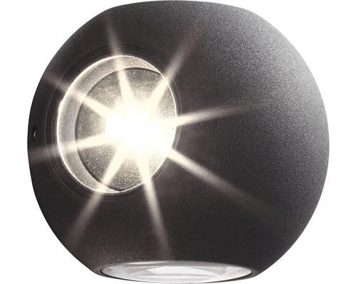 AEG LED Außenwandleuchte 3W 144 lm 3000 K warmweiß Gus anthrazit IP54 Ø 100 mm