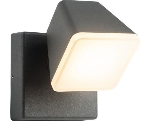 AEG LED Außenwandleuchte IP54 12,5W 1200 lm 3000 K warmweiß Isacco anthrazit/weiß Ø 126x123 mm