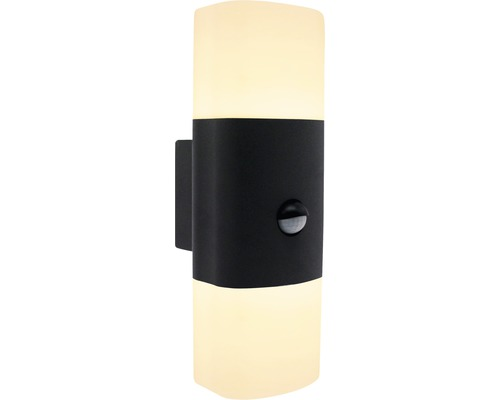 AEG LED Sensor Außenwandleuchte IP54 2x12,5W 1200 lm 3000 K warmweiß Farlay anthrazit/weiß 285x96 mm