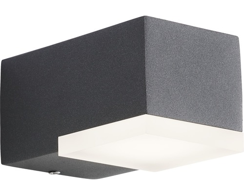 AEG LED Außenwandleuchte IP54 6W 445 lm 3000 K warmweiß Amity anthrazit/weiß 63x70 mm