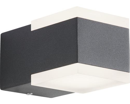 AEG LED Außenwandleuchte IP54 2x3W 222 lm 3000 K warmweiß Amity anthrazit/weiß 75x70 mm