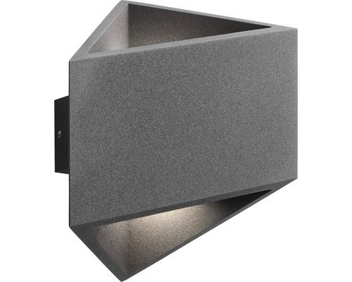 AEG LED Außenwandleuchte 4W 360 lm 3000 K warmweiß Lakil anthrazit IP54 HxB 160/152 mm