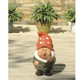 Gartenzwerg Lafiora Keramik H 32 cm grün-rot-weiß