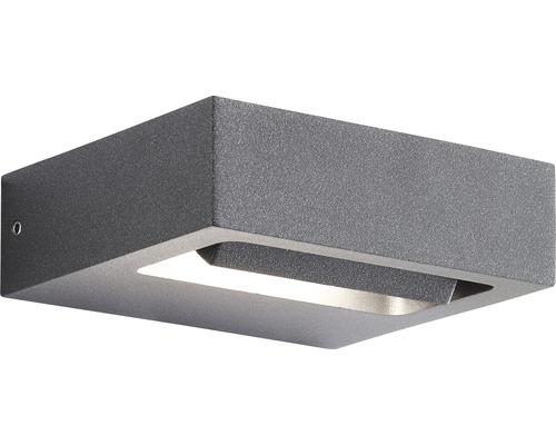 AEG LED Außenwandleuchte IP54 7,5W 700 lm 3000 K warmweiß Glynn anthrazit 36x120 mm