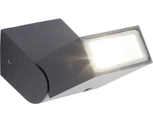 AEG LED Außenwandleuchte 7,5W 690 lm 3000 K warmweiß Enid anthrazit IP54 HxB 38x84 mm