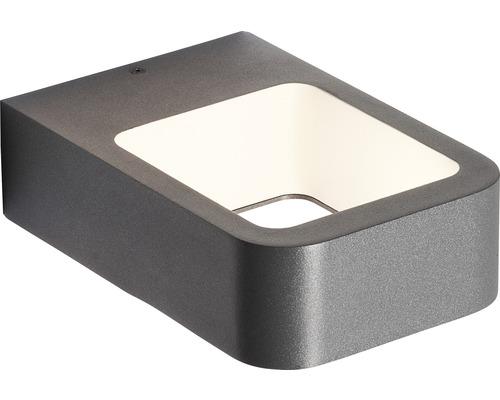 AEG LED Außenwandleuchte IP54 6W 560 lm 3000 K warmweiß Phelia anthrazit 50x120 mm
