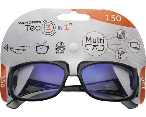 Varionet Tech 3in1 Brille +1,5 Dioptrien