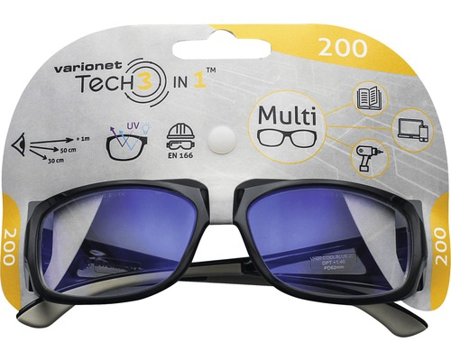 Varionet Tech 3in1 Brille +2,0 Dioptrien