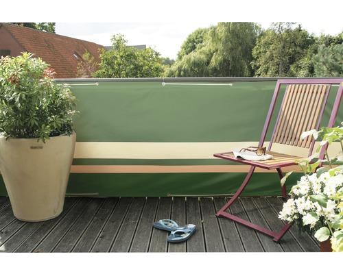 PE Bespannung 90 x 500 cm grün/beige