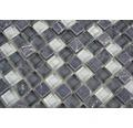 Glasmosaik mit Naturstein XCM M810 30,5x32,2 cm mix grau