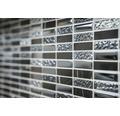 Glasmosaik mit Naturstein XCM SM86 31x32,2 cm schwarz
