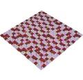 Glasmosaik XCM M730 30x30 cm rot/pink/weiß matt