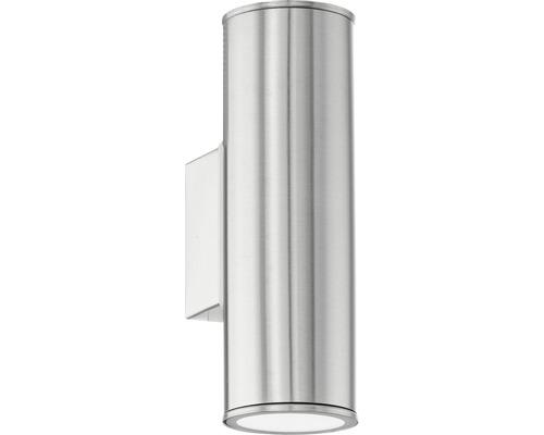 LED Außenwandleuchte IP44 2x5W 2x400 lm 2700-6500 K warmweiß-tageslichtweiß Riga edelstahl H 200 mm