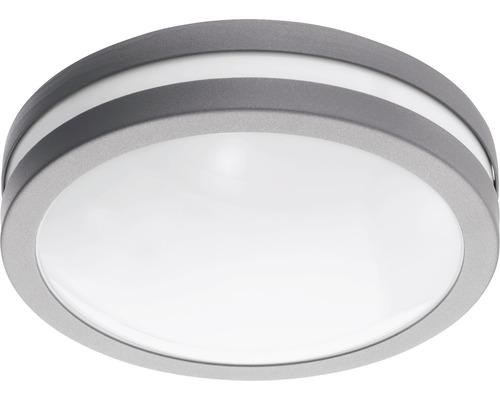 LED Außenwandleuchte IP44 14W 1400 lm 3000 K warmweiß Locana Crosslink silber/weiß H 260 mm