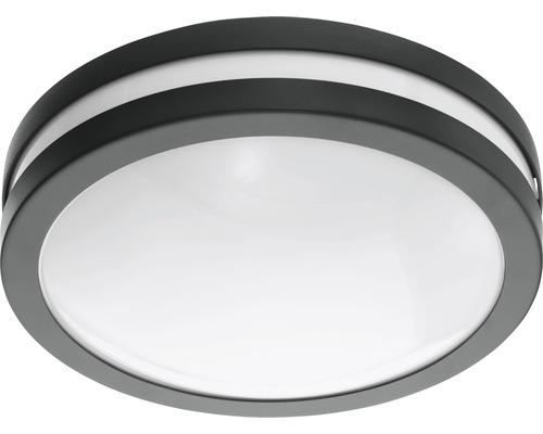 LED Außenwandleuchte IP44 14W 1400 lm 3000 K warmweiß Locana Crosslink anthrazit/weiß H 260 mm