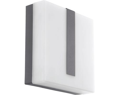 LED Außenwandleuchte IP44 14W 1400 lm 3000 K warmweiß Torazza Crosslink anthrazit/weiß H 215x215 mm