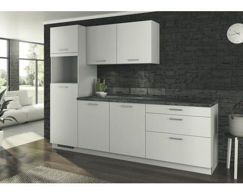 PICCANTE Küchenleerblock Solaro 270 cm Lichtgrau Anschlag Links ohne E-Geräte