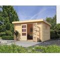 Blockbohlenhaus Karibu Tossens 4 357 x 297 cm natur