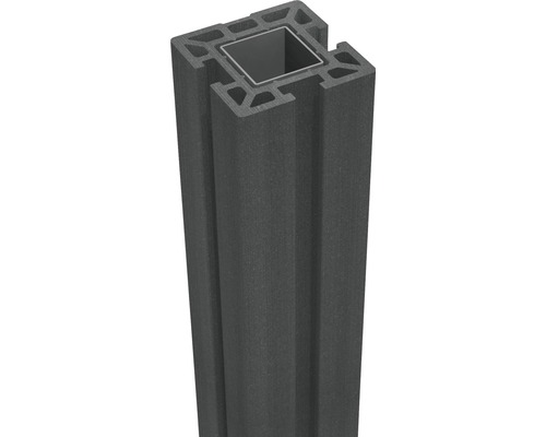 Pfosten GroJa Flex WPC zum Aufschrauben 10x10x100 cm anthrazit