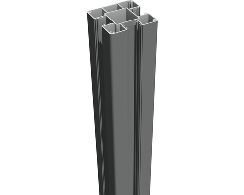 Aluminiumpfosten GroJa Flex & Lumino zum Aufschrauben 7x7x100 cm anthrazit