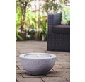 Brunnen-Set 'Half Ball Grey LED' 50 x 50 x 25 cm aus Polystone, grau