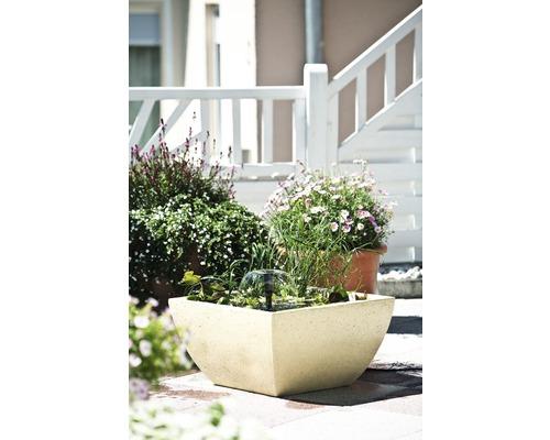 Springbrunnen eckig 55 x 55 x 30 cm sandfarben