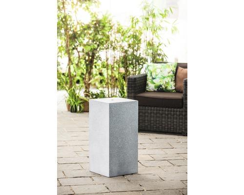 Sockel 'Tower Grey' 39 x 39 x 68 cm aus Polystone grau