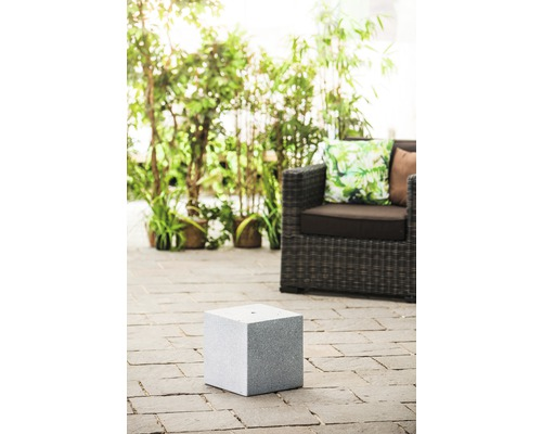 Sockel 'Cube Grey' 31 x 31 x 31 cm aus Granit, grau