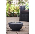 Brunnen-Set 'Half Ball Black LED' 50 x 50 x 25 cm aus Polystone, schwarz