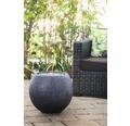 Brunnen-Set 'Ball Black LED' 50 x 50 x 43 cm aus Polystone, schwarz