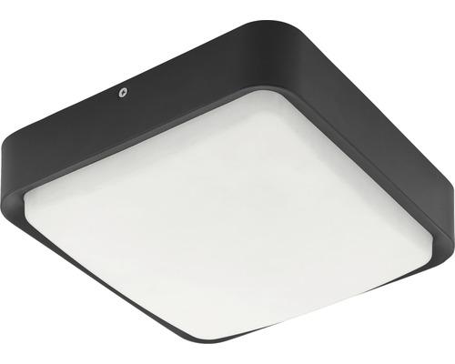 LED Außendeckenleuchte IP44 14W 1400 lm 3000 K warmweiß Piove Crosslink schwarz/weiß H 250x250 mm