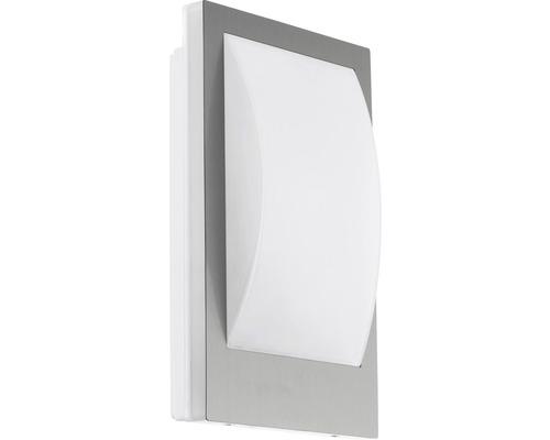 LED Außenwandleuchte IP44 9W 806 lm 3000 K warmweiß Verres Crosslink edelstahl/weiß H 290x180 mm