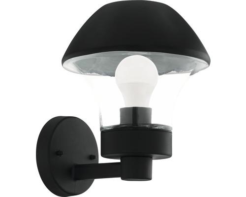 LED Außenwandleuchte IP44 9W 806 lm 3000 K warmweiß Verlucca Crosslink schwarz/transparent H 265 mm