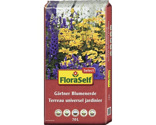 Gärtnerblumenerde FloraSelf Select, 70L