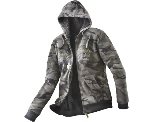 Uncle Sam Sweatjacke Gr.3XL camouflage/schwarz