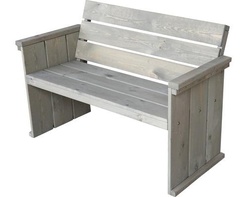 Gartenbank Toulouse Holz 2 Sitzer braun