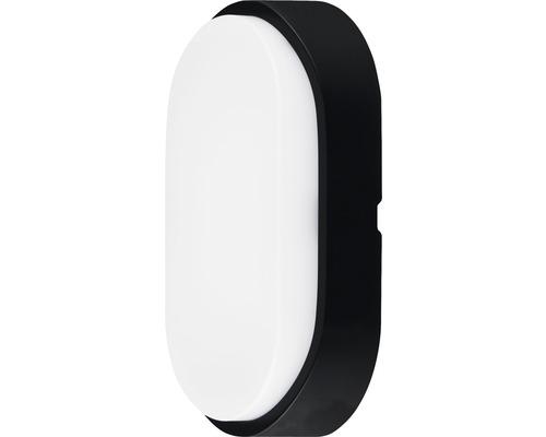 LED Wandleuchte IP54 10W 700 lm 4000 K neutralweiß oval weiß/schwarz HxBxT 212/119/60,5 mm