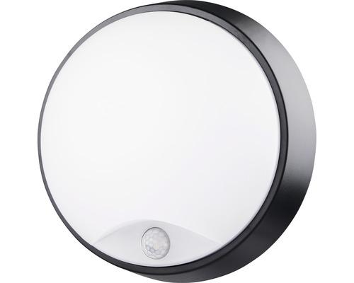 LED Sensor Wandleuchte IP54 10W 700 lm 4000 K neutralweiß rund weiß/schwarz ØxT 215/80 mm