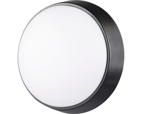 LED Wandleuchte IP54 10W 700 lm 4000 K neutralweiß rund weiß/schwarz ØxT 215/80 mm