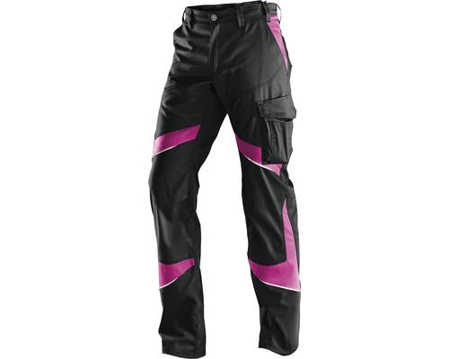 Kübler Activiq Damenhose, schwarz/pink; Gr. 44