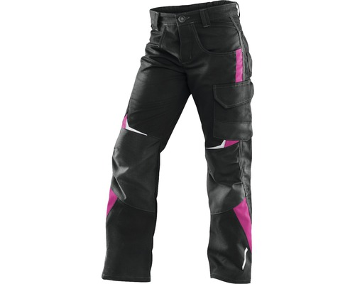 Kübler Kidz Kinderhose, schwarz/pink, Gr. 122-128