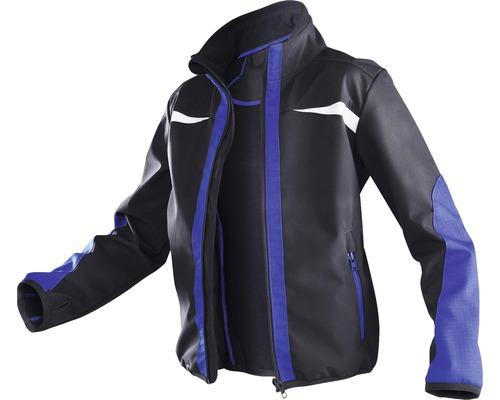 Kübler Kidz Kinder-Softshell Jacke, schwarz/blau, Gr. 110-116