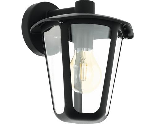 Wandleuchte 1-flammig H 275 mm Monreale hängend schwarz
