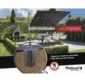 Bodenhülse Siena Garden Platinum für Sonnenschirme Ø76, 95 oder 113 mm