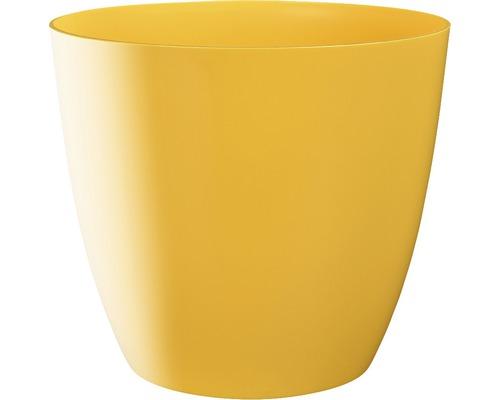 Blumentopf Ella gloss Kunststoff Ø 9 H 8 cm gelb
